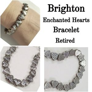 Vtg. Brighton Enchanted Heart slide bracelet